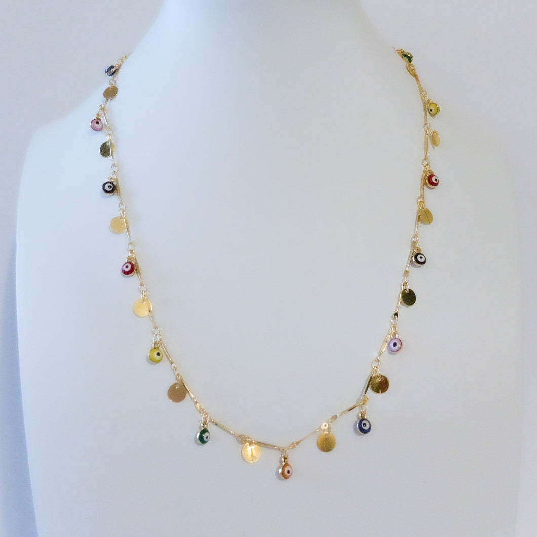 Colorful of Ojitos Necklace