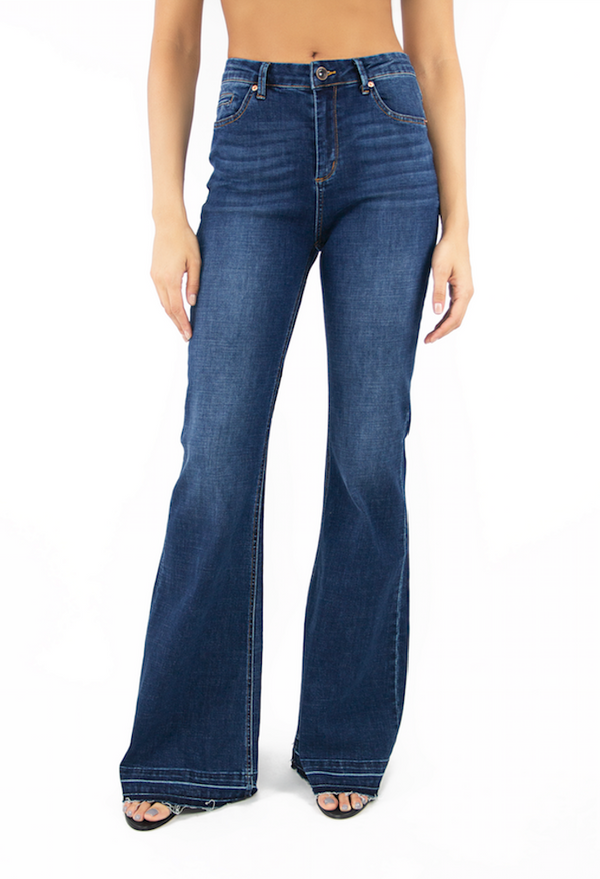 High Rise Wide Flare Jeans