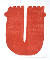Arms Up (Red) Monoprint