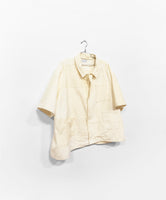 Quilted Josa Button Down - Cream Corduroy