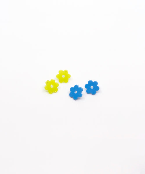 Daisy Acetate Earrings - Small