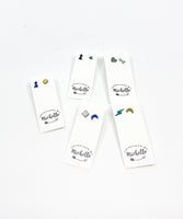 Mismatched Shape Enamel Earring