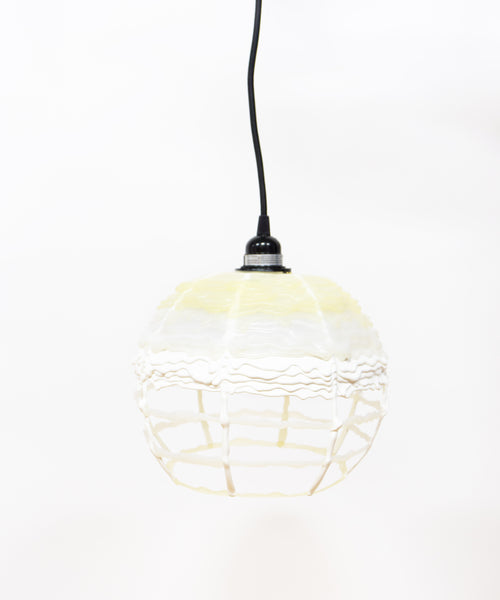 Hot Mess Lamp - White & Clear Grid