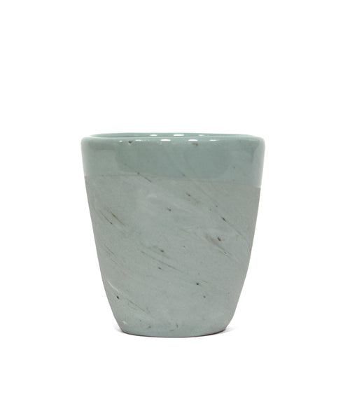 8oz Mint Green Porcelain Cup