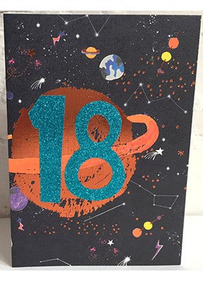 Paper Salad Age 18 Space & Planets Card