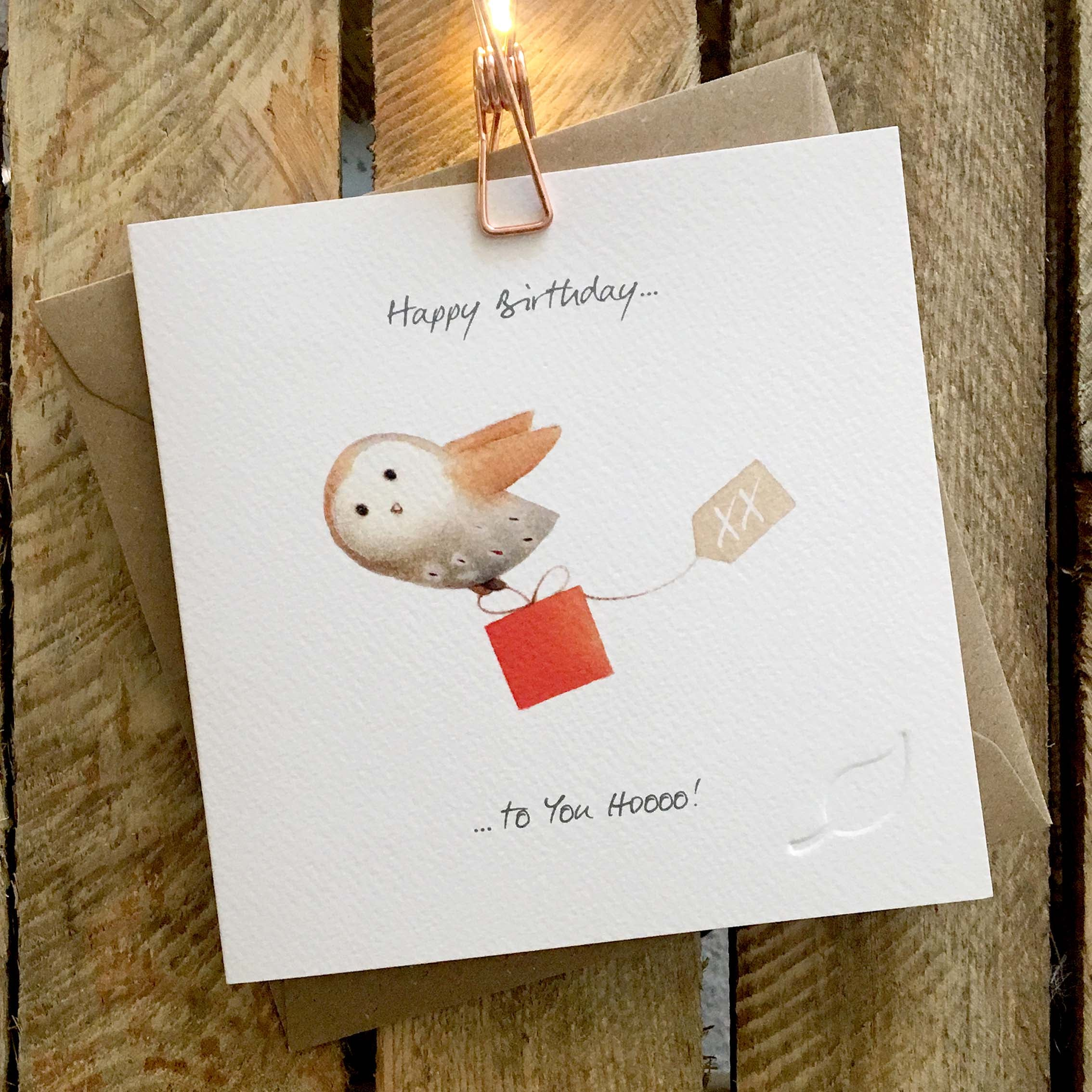 Ginger Betty Card - Happy B'day To You HOOO