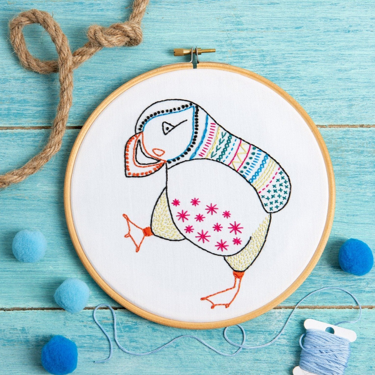 Hawthorn Puffin Embroidery Kit
