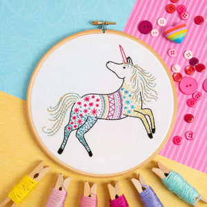 Hawthorn Unicorn Embroidery Kit
