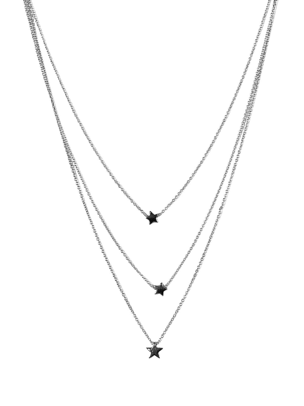 Big Metal Estelle 3 Layer Star Necklace (2 colours)