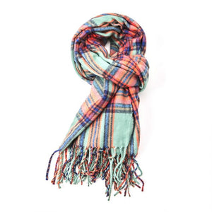 Miss Sparrow Alice Tartan Scarf Green