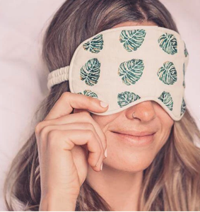 Elizabeth Scarlett Jungle Leaf Eye Mask