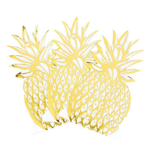 Talking Tables Modern Metallics Pineapple Shaped Napkins (Pack of 12)