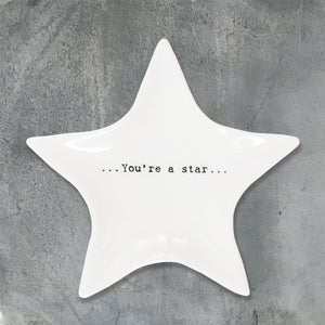 East of India Wobbly star dish-You're a star