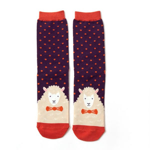 Mr Heron Sheepish Socks - Purple