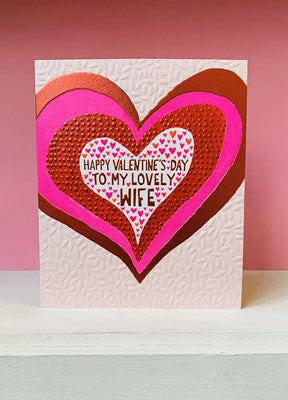 Paper Salad Large Valentine's Card - Lovely Wife