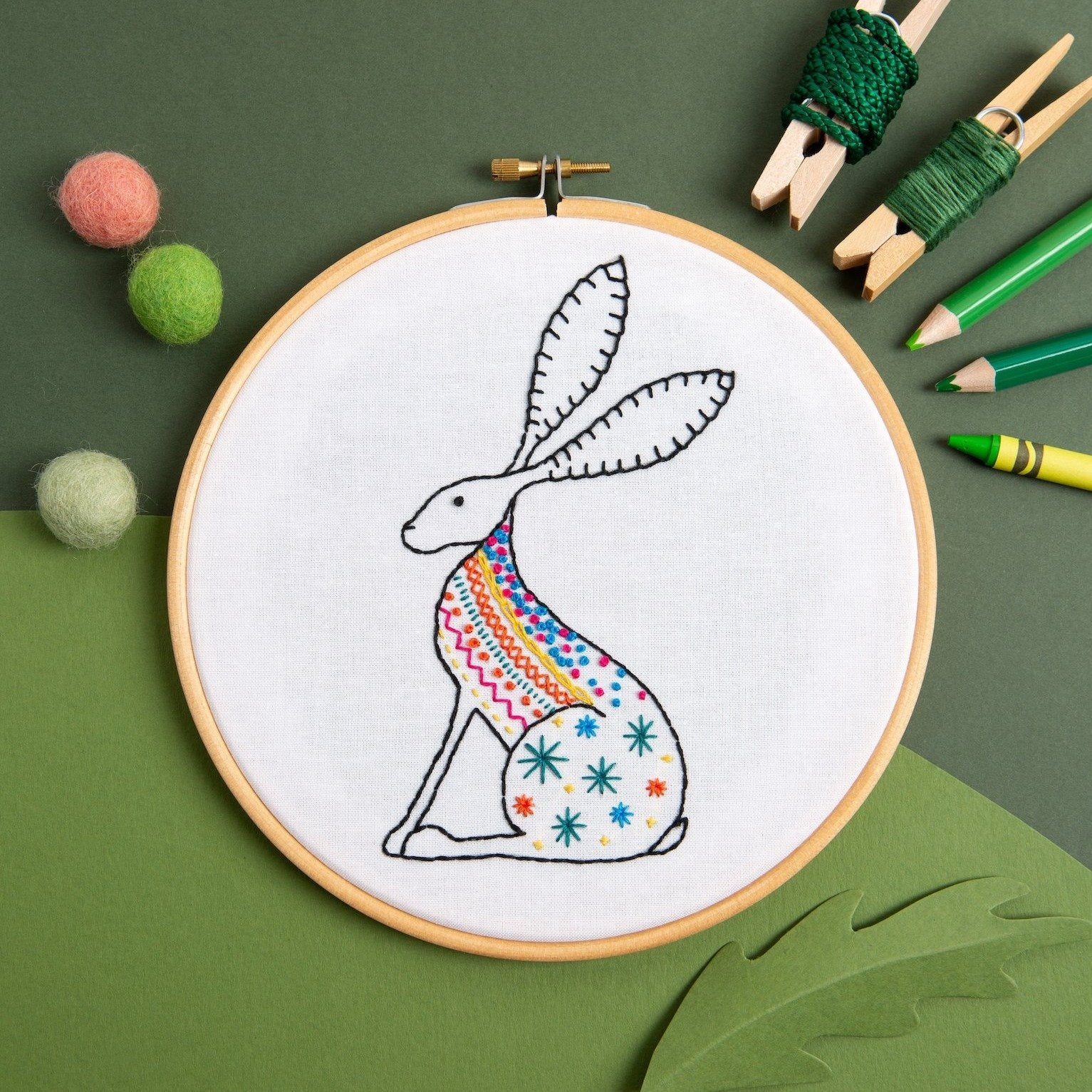 Hawthorn Hare Embroidery Kit