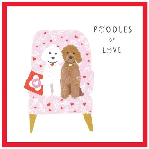 Cinnamon Aitch Card: Margo Loves, Valentine, poodles of love