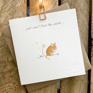 Ginger Betty Card - Just Can't Find The Words