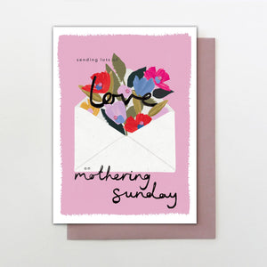 Stop the Clock Love on Mothering Sunday Card