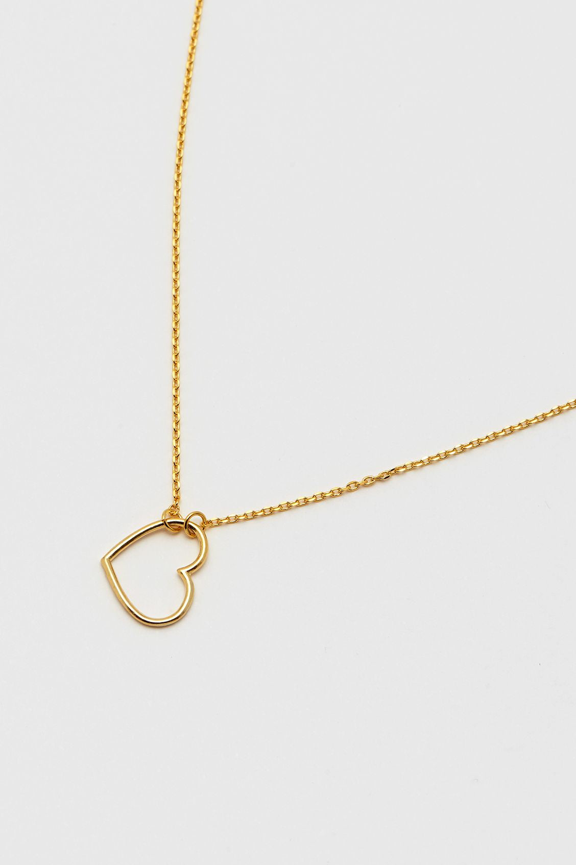 Estella Bartlett Open Heart Necklace - Gold Plated