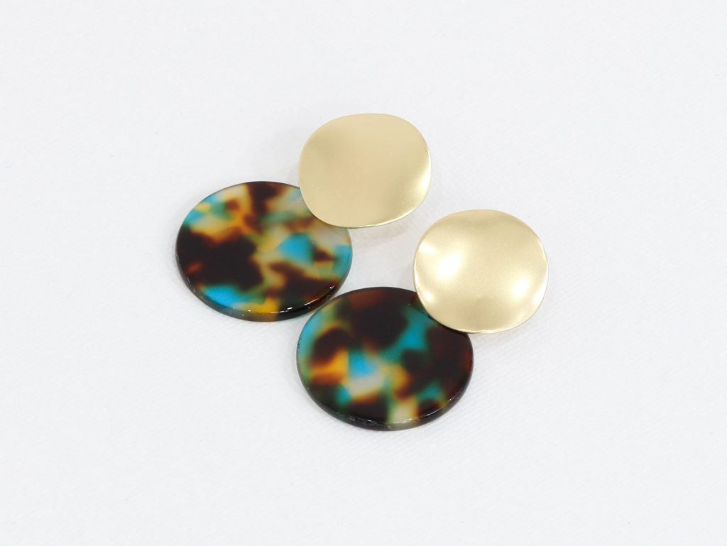 Big Metal Sarah Two Tone Earrings (2 colours)