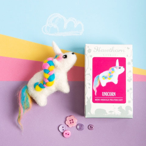 Hawthorn Unicorn Mini Needle Felting Kit