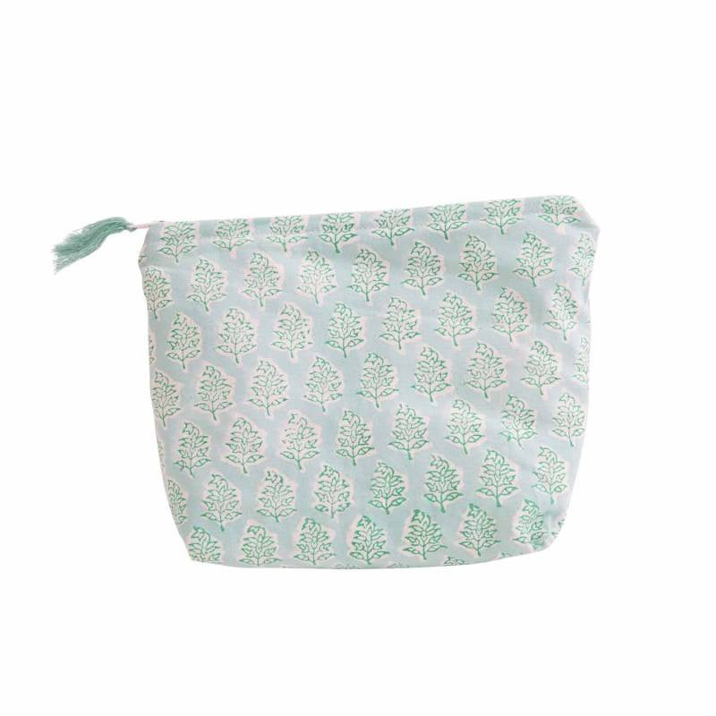 Zen Ethic Make Up Pouch Tree - Turquoise Mint (two sizes)