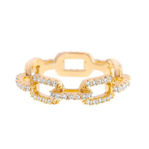*75% OFF* Girls Crew Bling Cable Chain Ring Gold