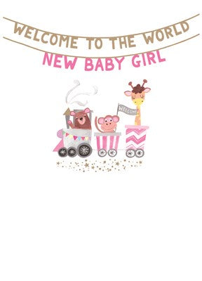 Paper Salad Baby Girl Card