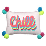 Load image into Gallery viewer, Bombay Duck Cursive Cushion - Chill