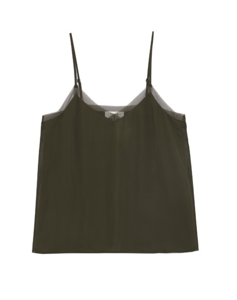 Grace and Mila Blessing Woven Top - Khaki Green