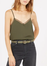 Load image into Gallery viewer, Grace and Mila Blessing Woven Top - Khaki Green