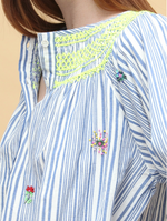Load image into Gallery viewer, Vilagallo Palmer Blue Stripes Shirt