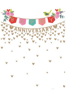Paper Salad Happy Anniversary Banner Card