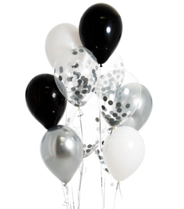 Bubblegum Balloons Monochrome Confetti Party Bunch Pack of 14