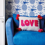 Load image into Gallery viewer, Bombay Duck Small Talk Cushion - Love