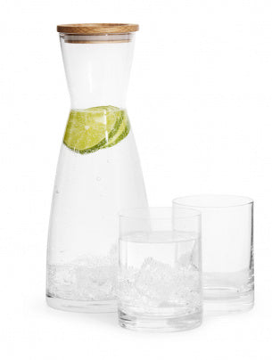 Sagaform Carafe with 2 Glasses Giftset