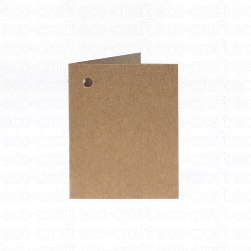 Eco-craft Gift Tag Folded Hairy Manilla (Pack of 5)