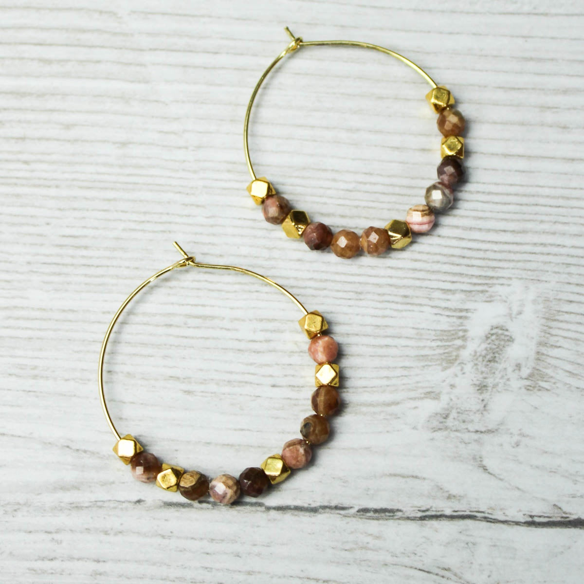 Pineapple Island Hoop Earrings Pink