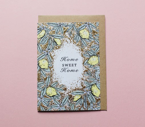 Apple and Clover card - Floral Home Sweet Home