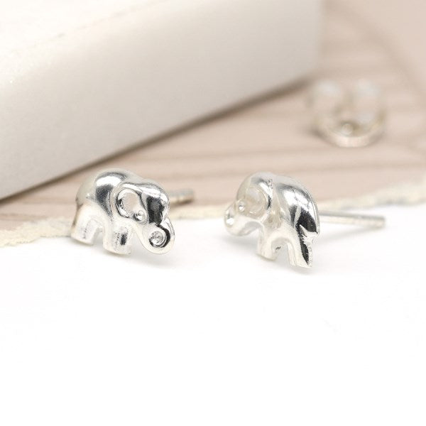 POM Elephant Stud Earrings