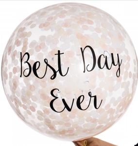 Bubblegum Balloons Elegance Best Day Ever Confetti Giant