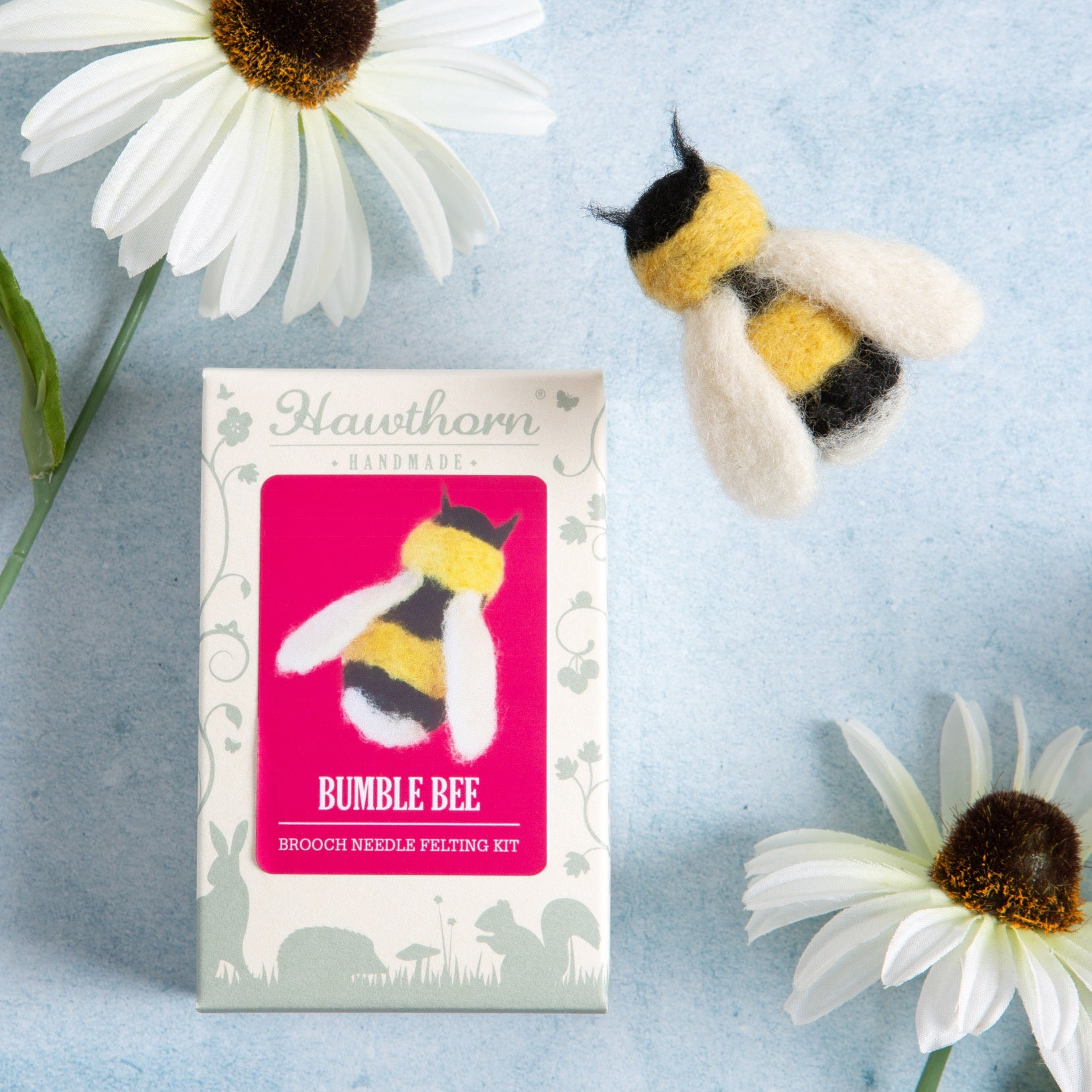 Hawthorn Bee Brooch Needle Felting Kit