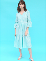 Load image into Gallery viewer, Vilagallo Tyne Melrose Stripe Dress