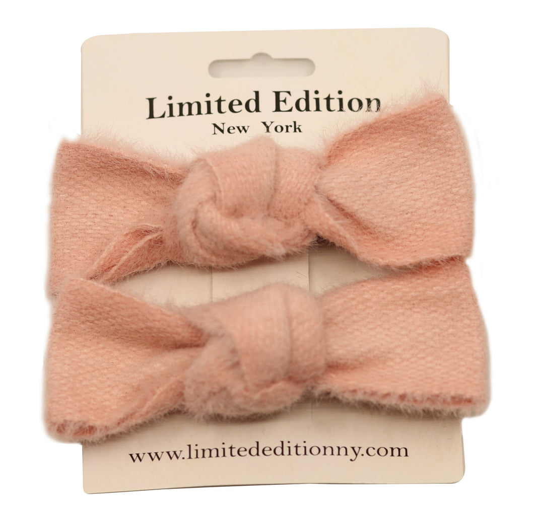 Woolen Hair Clips (2 Pk) Blush