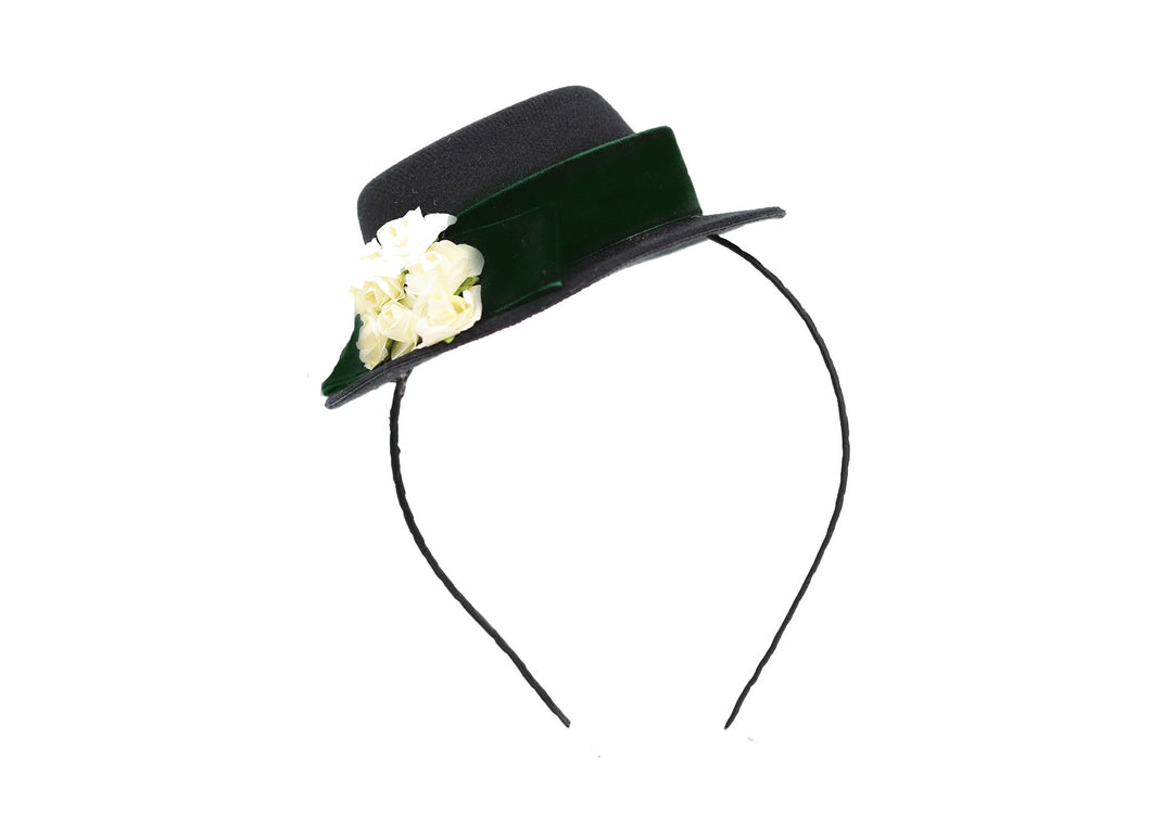 Vintage Hat Headband - Emerald