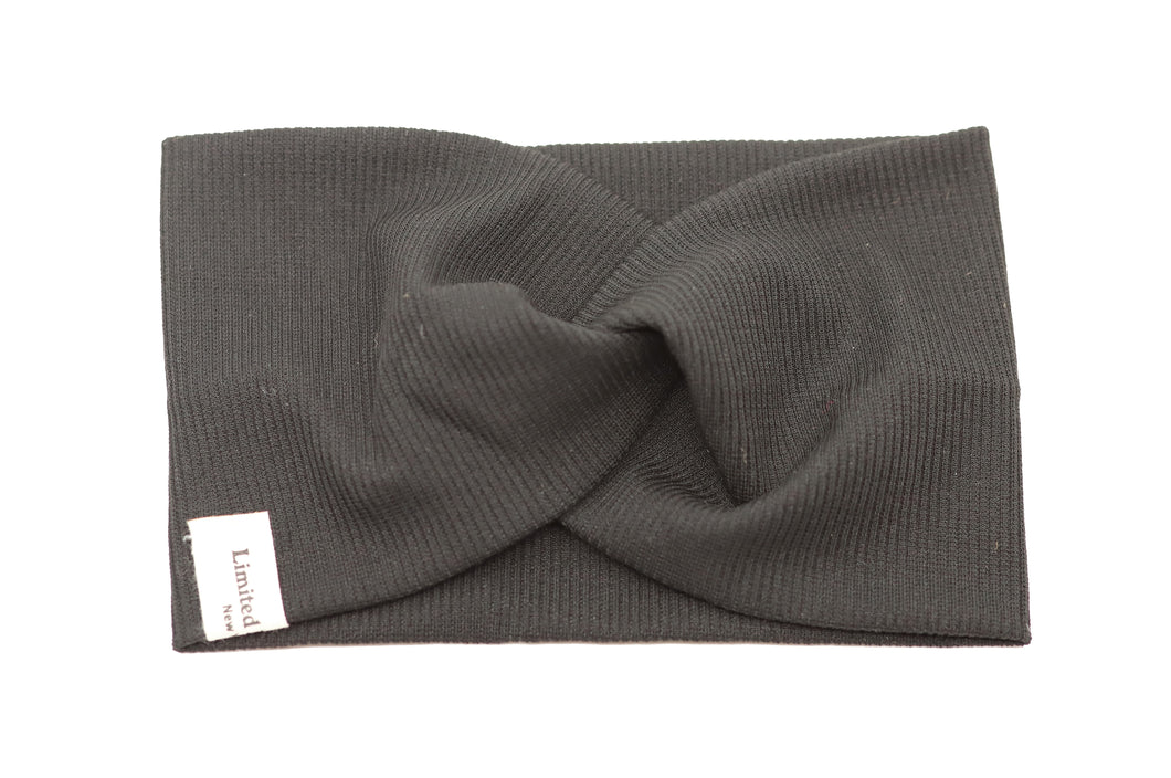 Classic School Twisted Headband - Charcoal