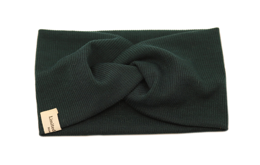 Classic School Twisted Headband - Emerald