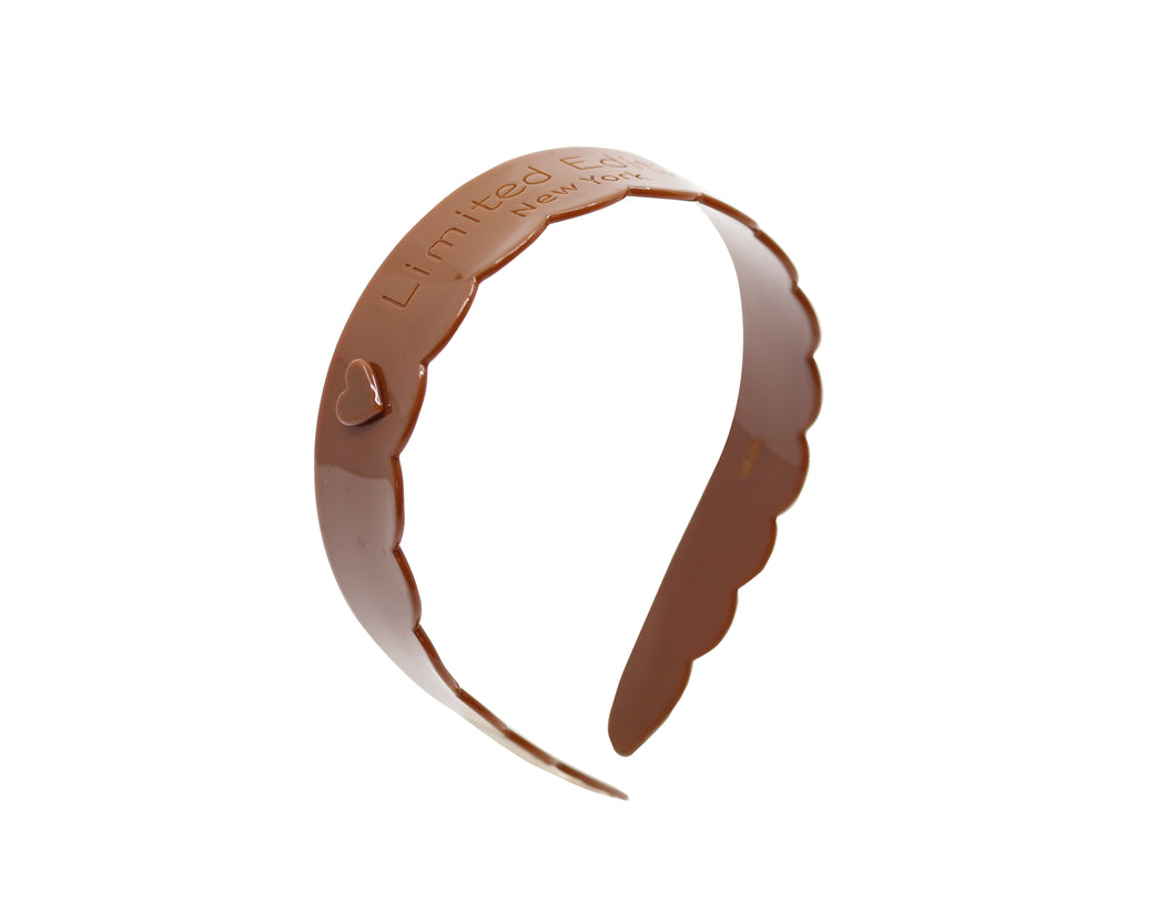 Acetate Scalloped Headband - Carmel