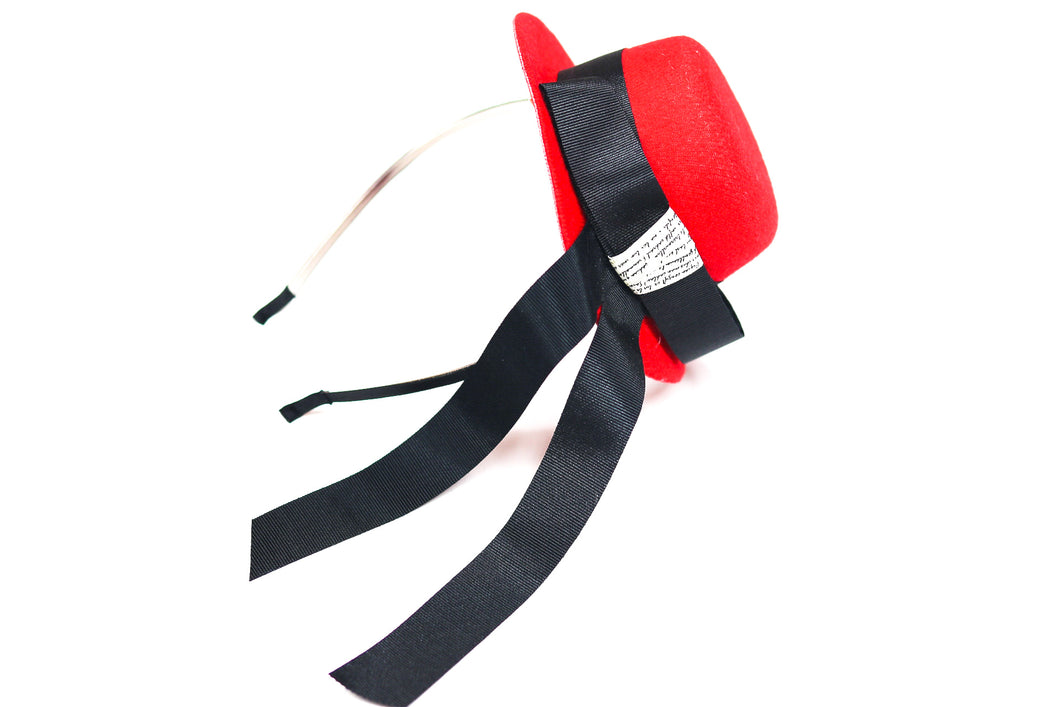 Little Lady Hat Headband - Red